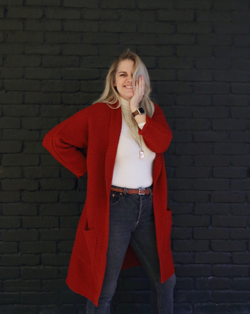 The Erinn Cardigan - Crimson