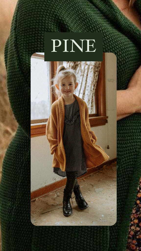 The Mini Erinn Cardigan - Pine