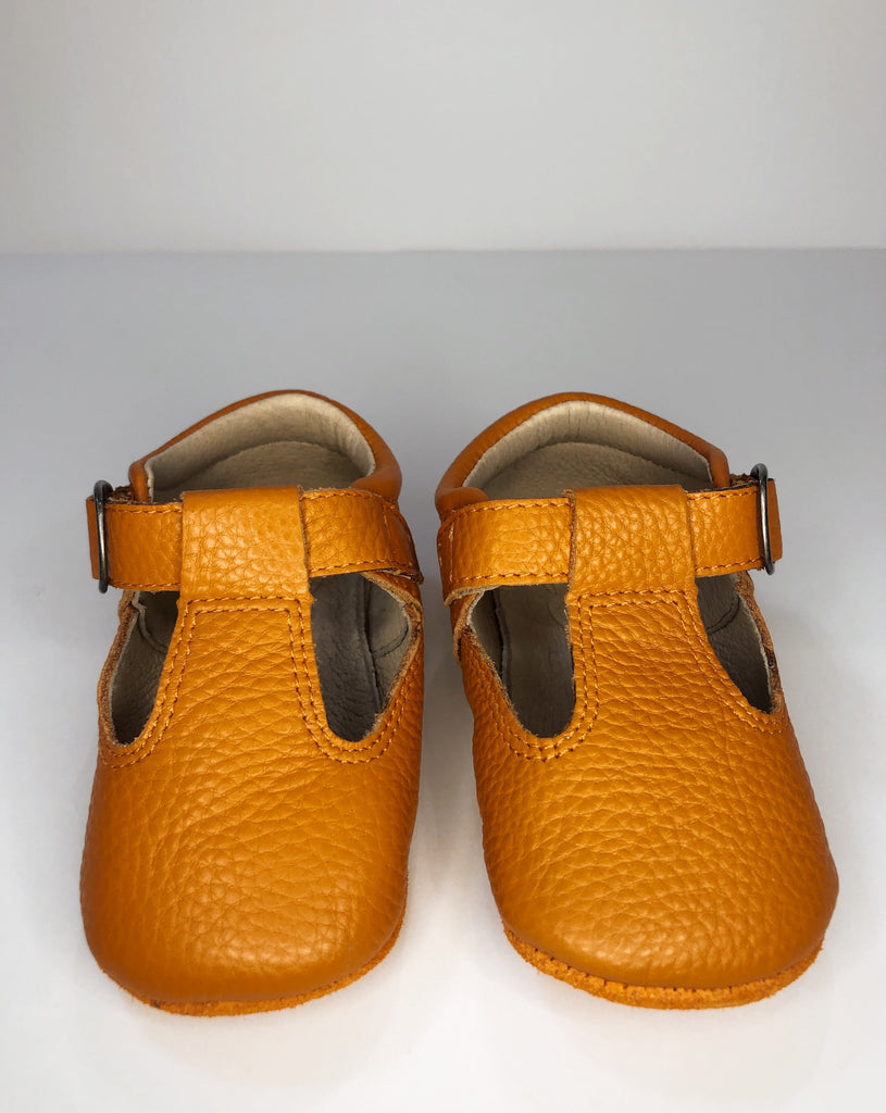 Rust Leather Baby Shoe