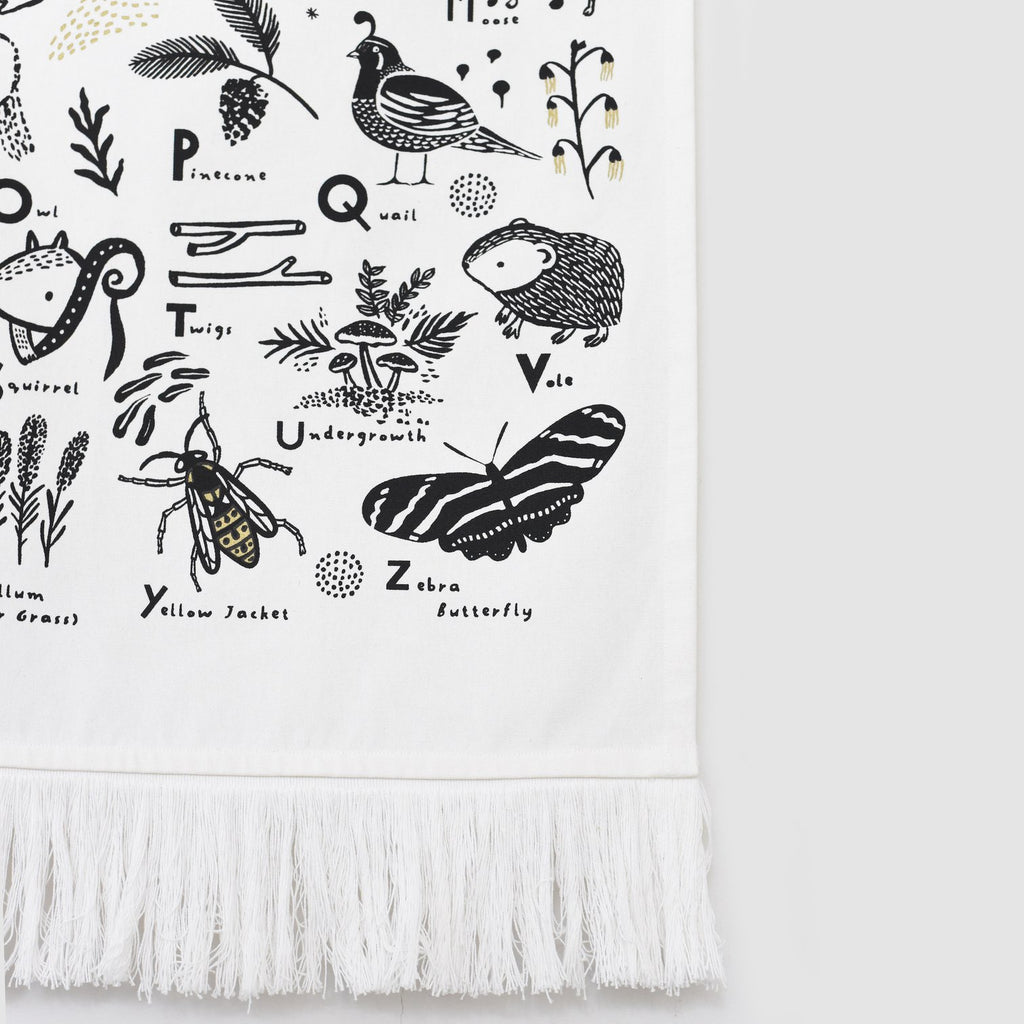 The Woodland Alphabet Printed Tapestry