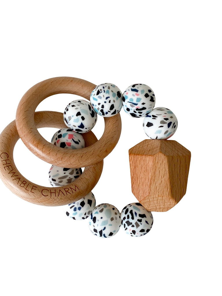 The Hayes Teething Ring - Terrazzo