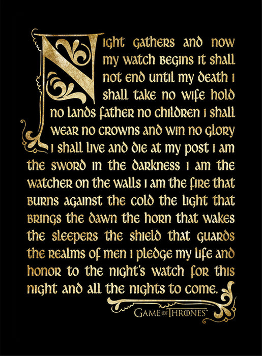 Game of Thrones (Season 3 - Nights Watch Oath)