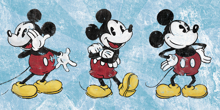 Mickey Mouse (Squeaky Chic Triptych)