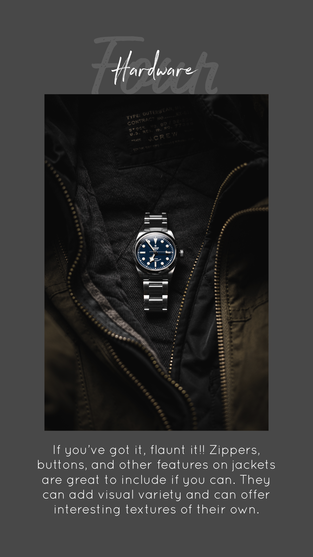 How to create the jacket watch shot
