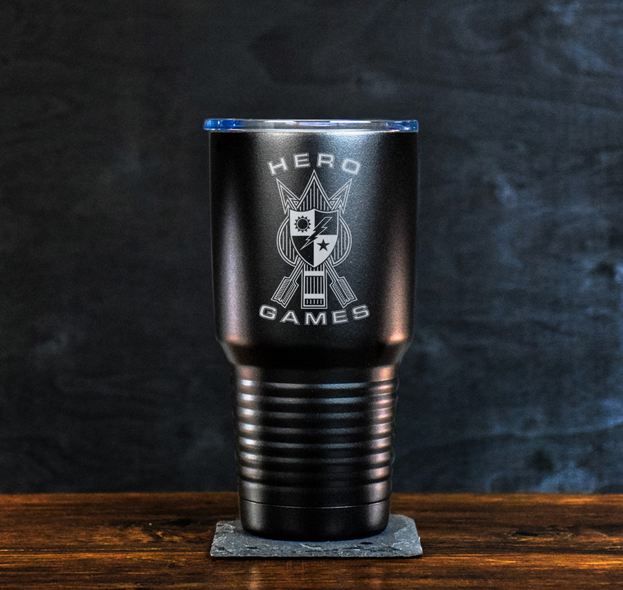 Hero Games Logo Tumbler