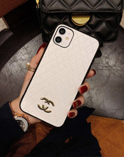 Load image into Gallery viewer, 2021 New Arrivel Chanel Metal Logo Full Protective Press Cell Phone Cover For 11 12 Mini Pro Max XR XS MAX 7G 8 Plus Mobile Phone Case