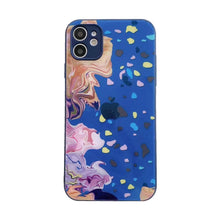 Load image into Gallery viewer, Easterm Oil Painting Temereped Glass Phone Cover For iPhone X 11Pro 12Mini Pro Max Xs Max XR 11 8Plus 7G  With Apple Logo Phone Case
