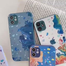 Load and play video in Gallery viewer, Easterm Oil Painting Temereped Glass Phone Cover For iPhone X 11Pro 12Mini Pro Max Xs Max XR 11 8Plus 7G  With Apple Logo Phone Case