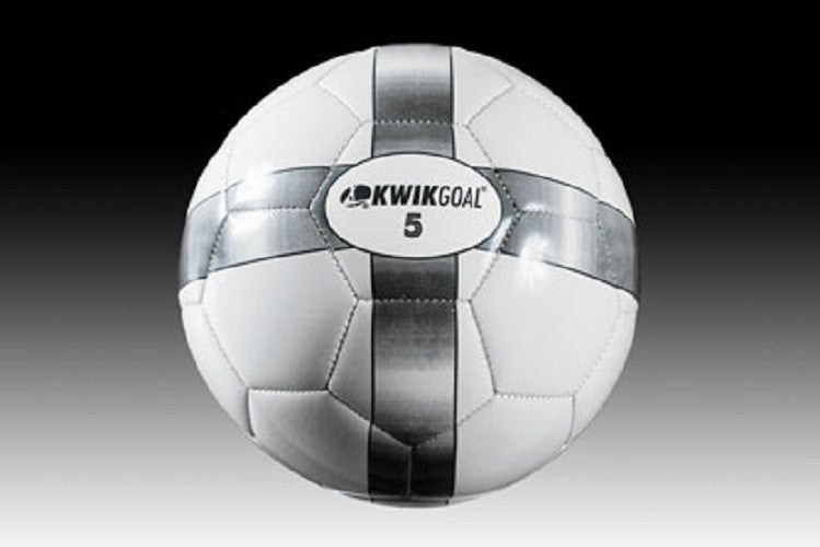 Basic Training Soccer Ball, White/Gray, Size 3