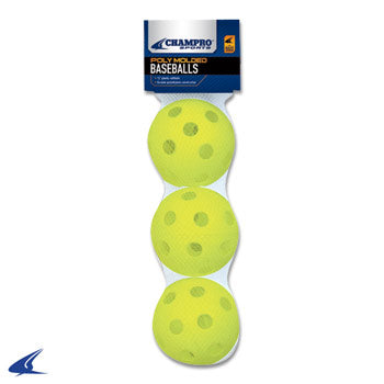 12'' Poly Molded Softball- 3 Pack