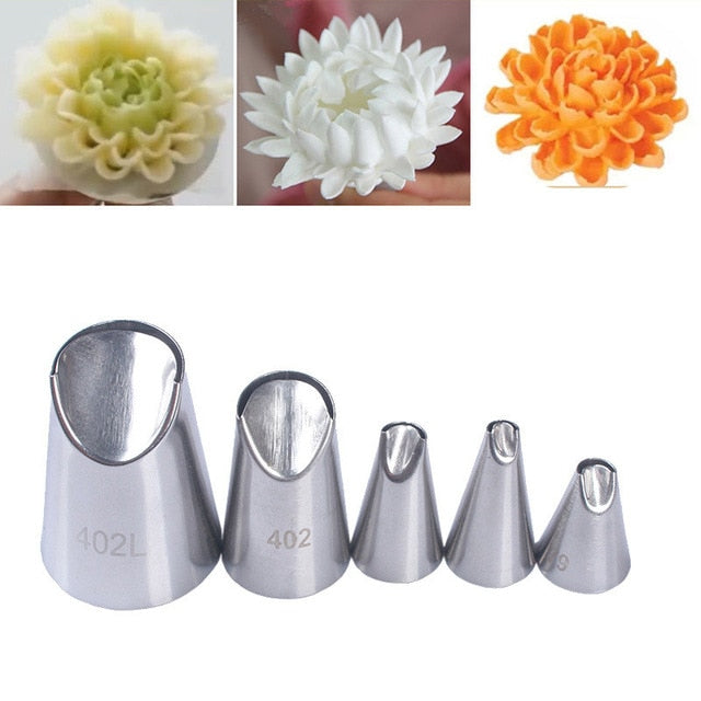 Russian Icing Piping Nozzles Tulip Stainless Steel Flower Cream cake P –  changmiaotang