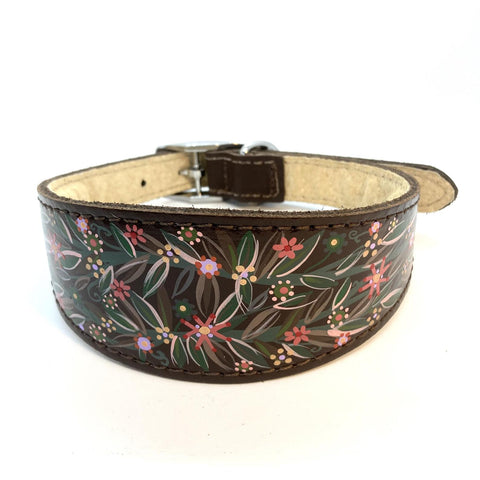 whippet hand painted collar
