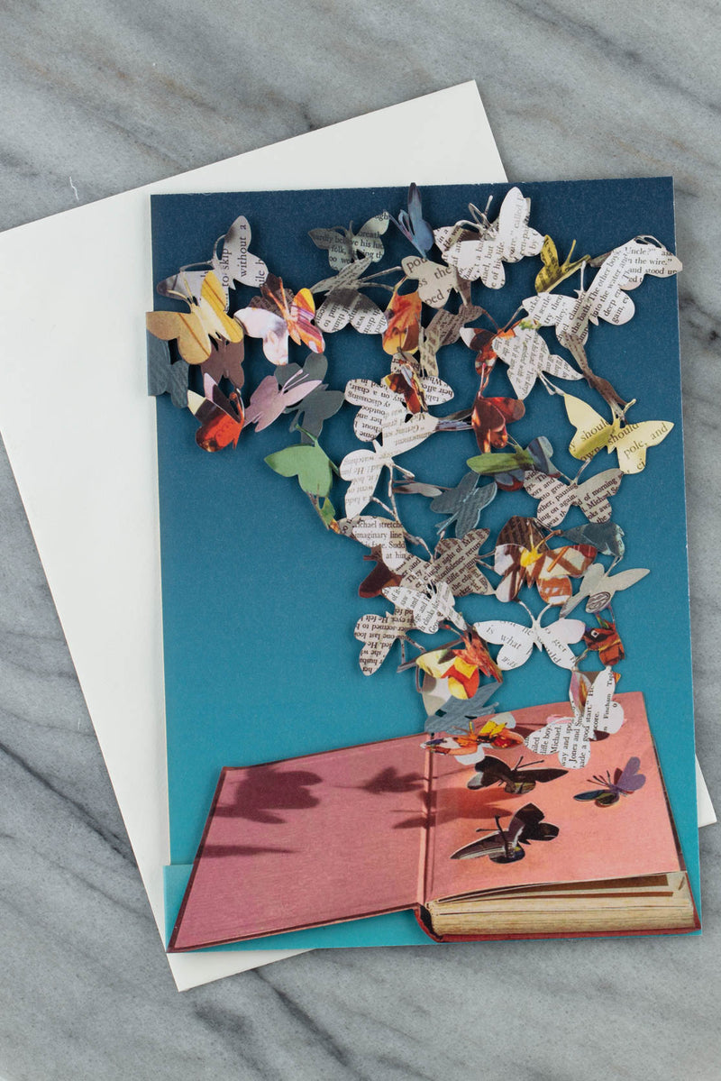 butterflies laser-cut greetings card by Su Blackwell for Roger La Borde