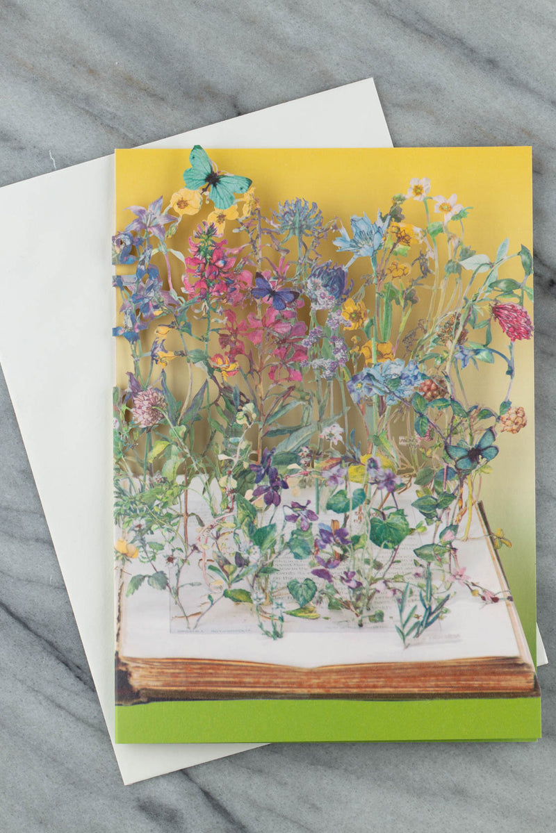 wild flowers laser-cut greetings card by su blackwell for roger la borde