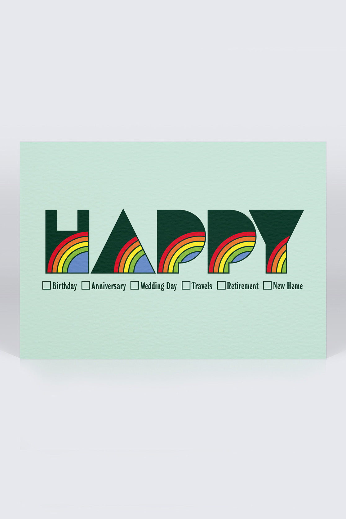 Five Letter Word Greetings Card - Happy
