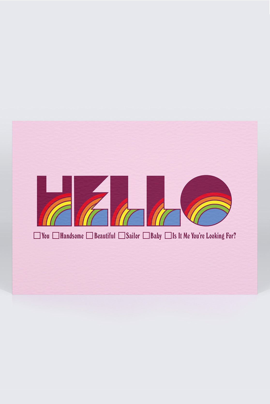 Five Letter Word Greetings Card - Hello