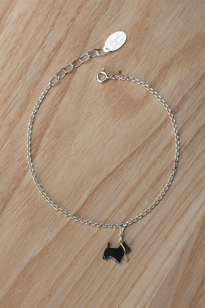Scottie Dog On A Lead Bracelet
