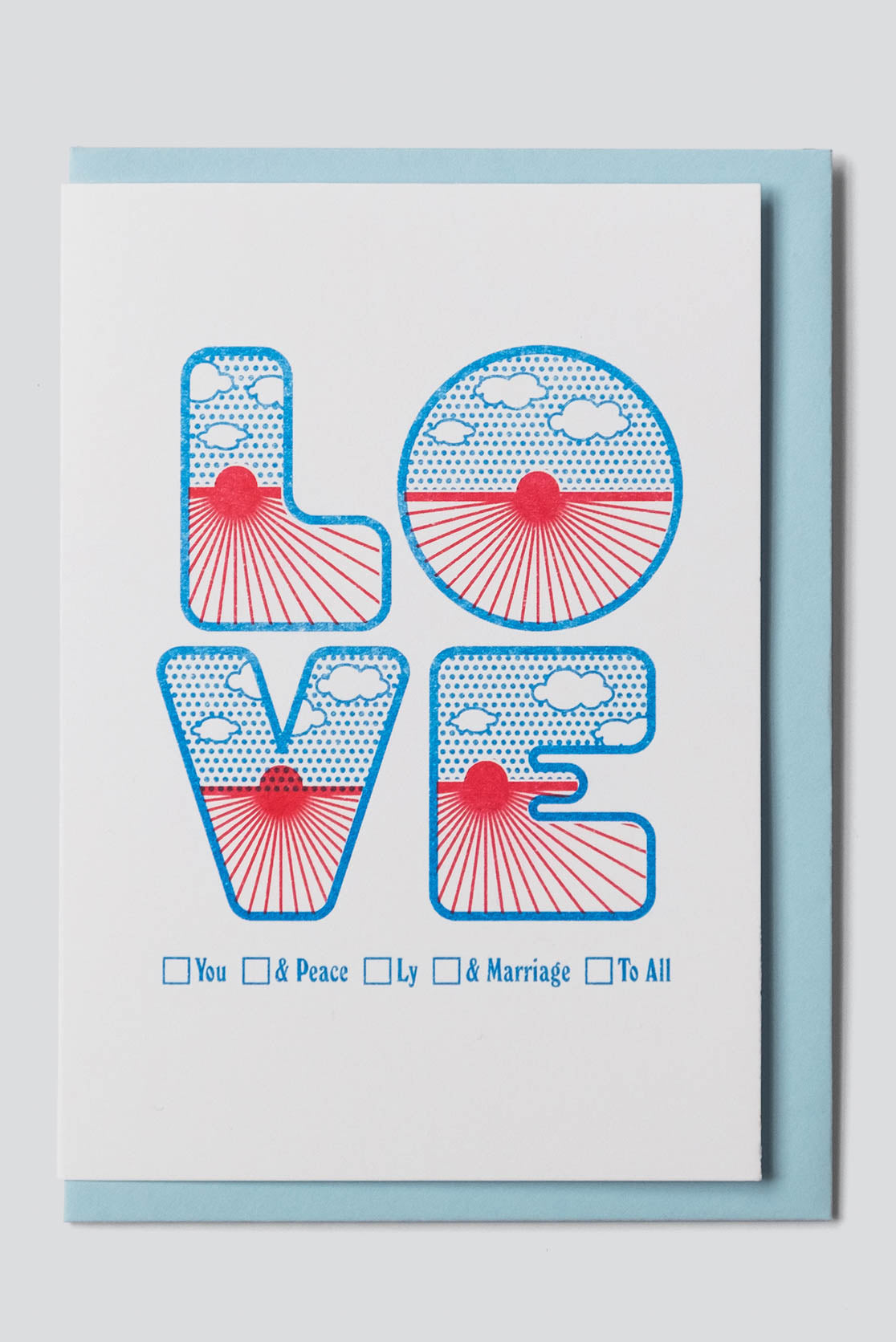 Four Letter Word Greetings Card - Love