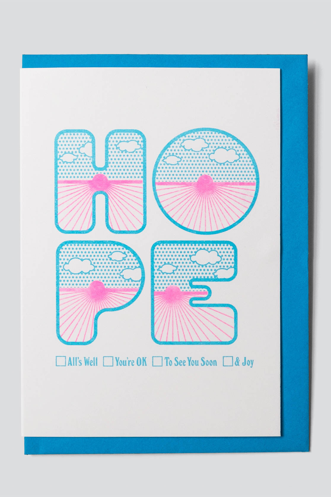 Four Letter Word Greetings Card - Hope