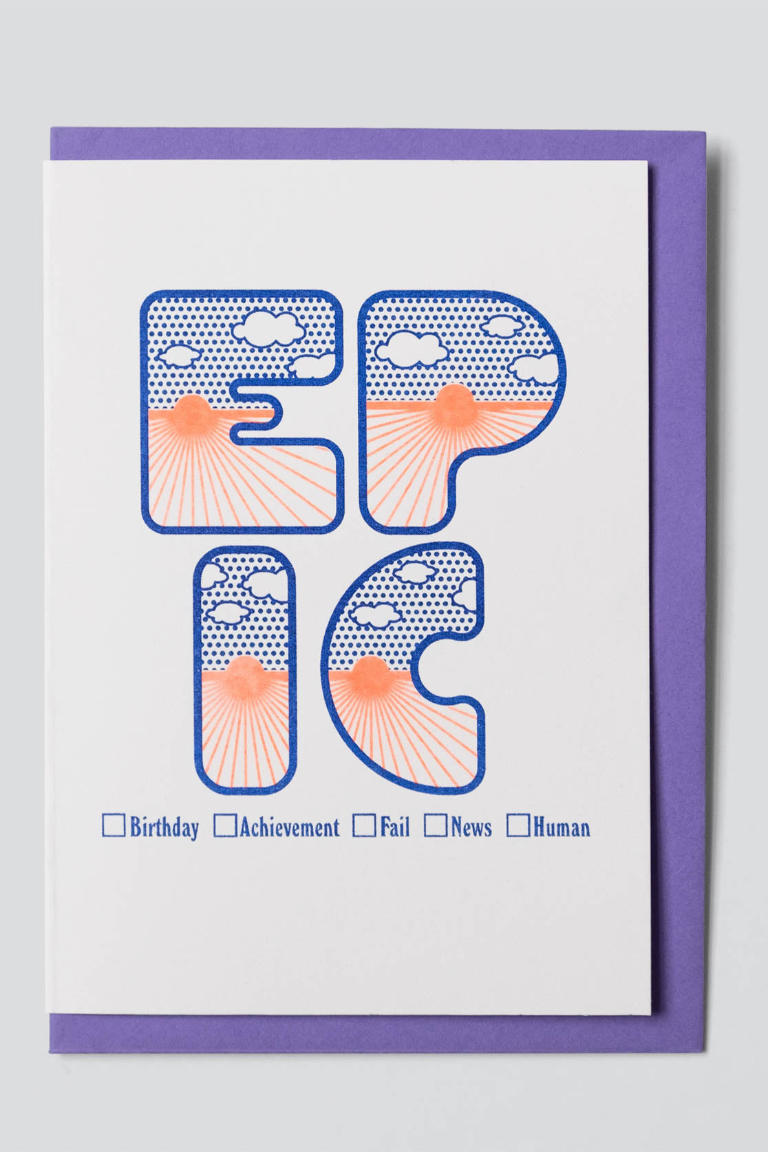 Four Letter Word Greetings Card - Epic