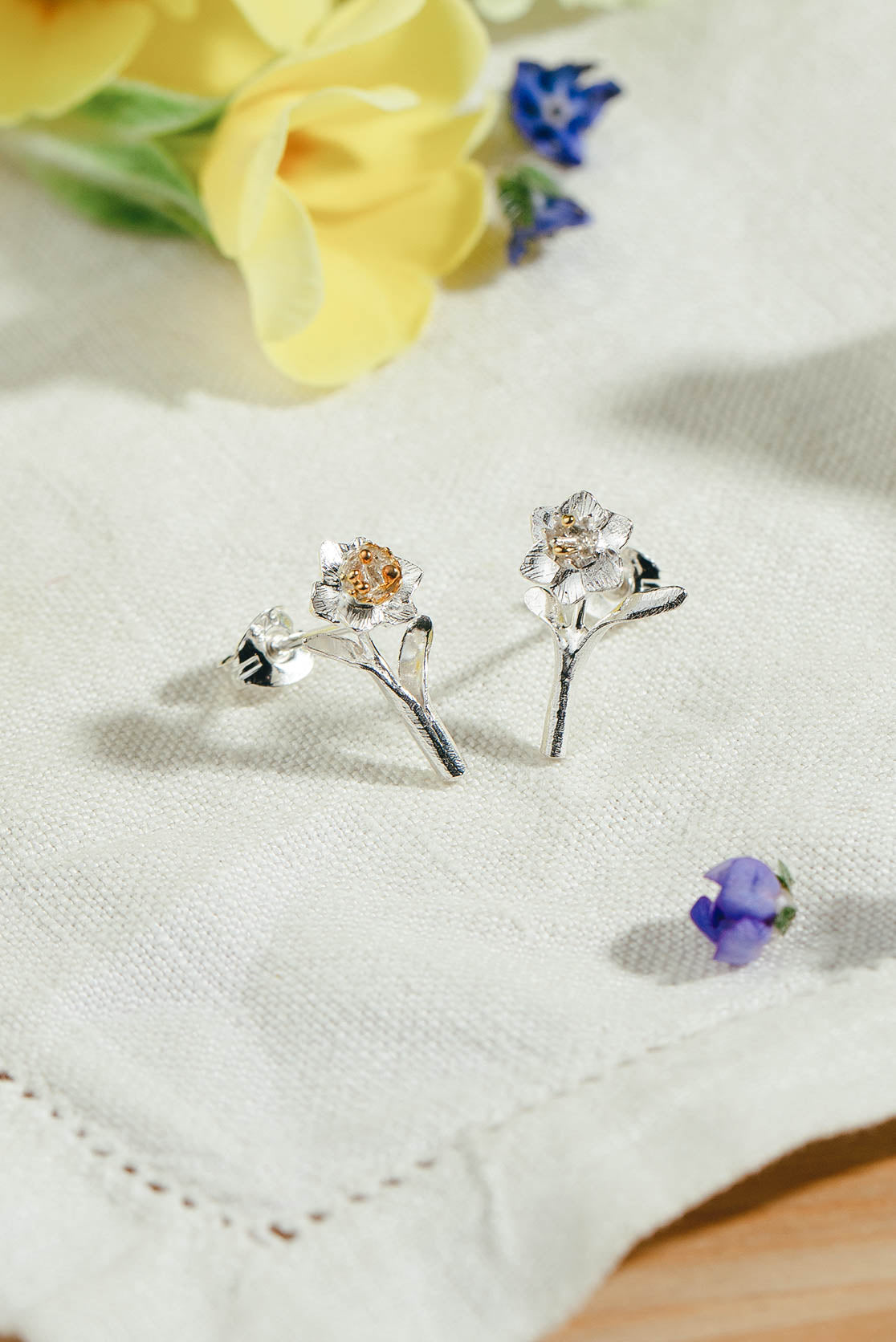 Daffodil Stud Earrings