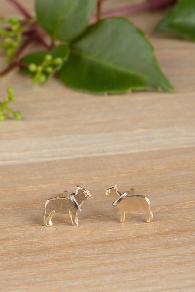 22ct Gold Vermeil French Bulldog Earrings