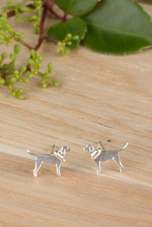 Labrador Stud Earrings