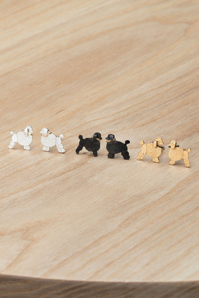 Poodle Stud Earrings