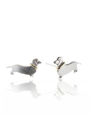 Sausage Dog Stud Earrings
