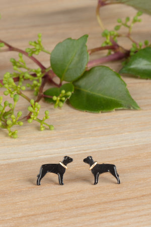 Staffordshire Bull Terrier Stud Earrings