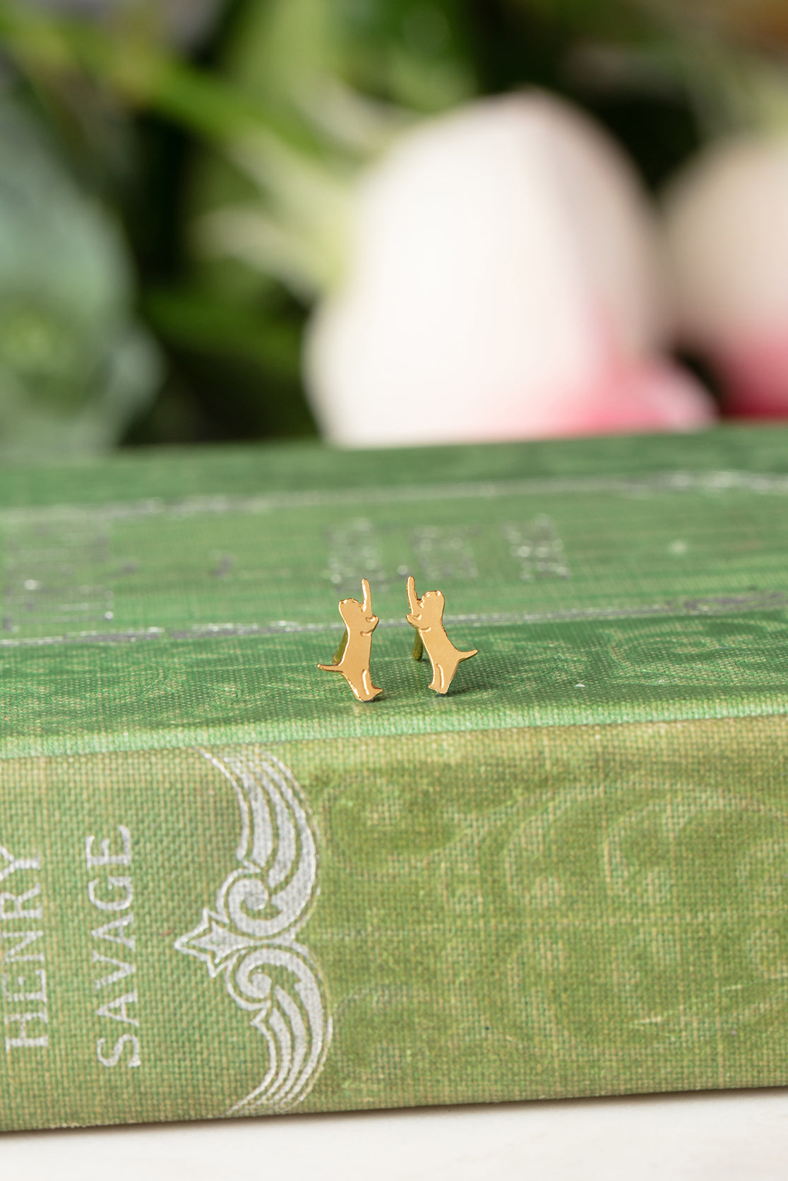 ginger kitten earrings