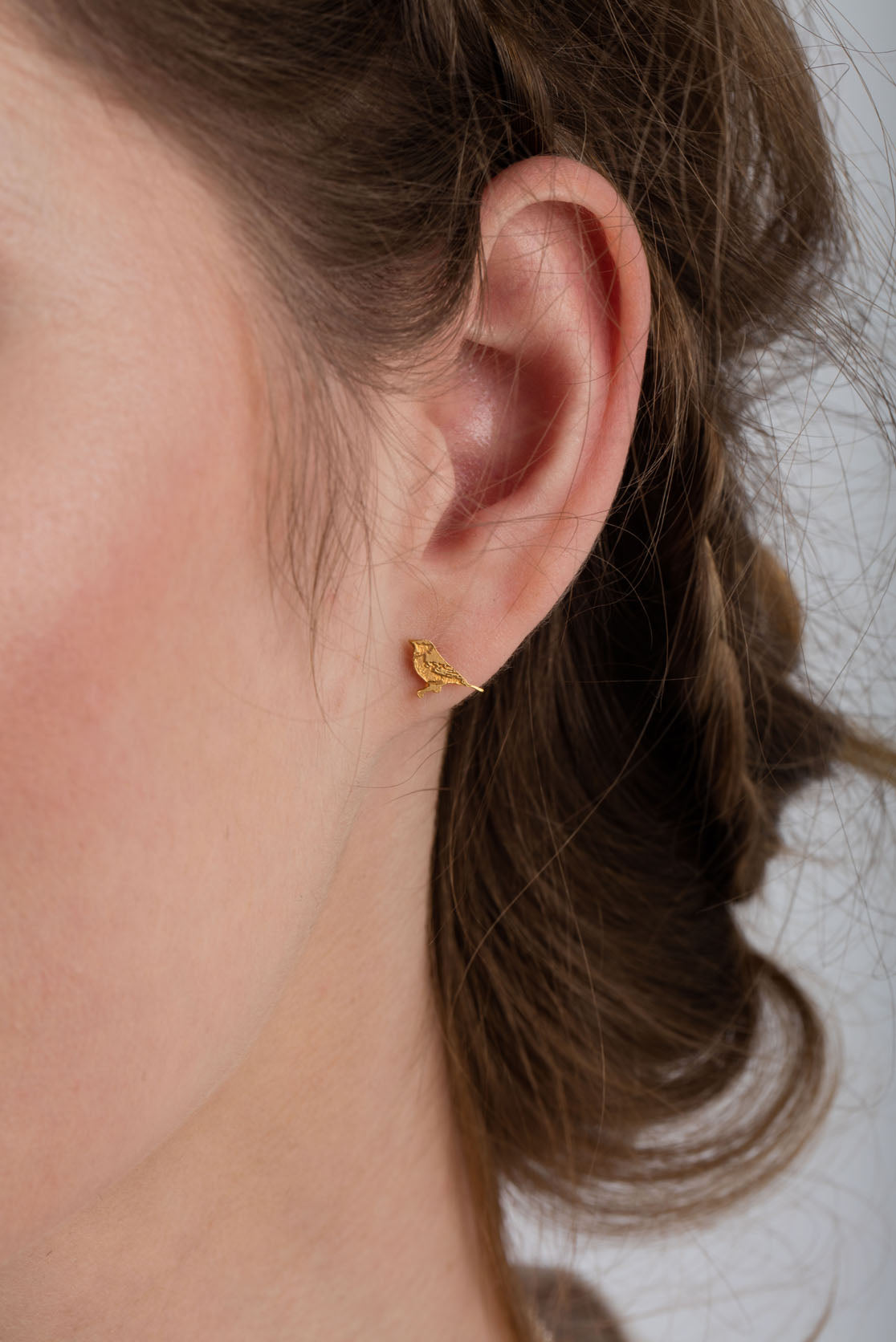 Tiny Bird Stud Earrings