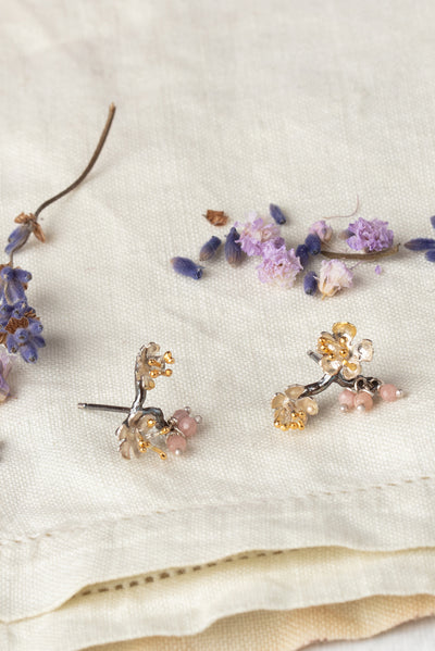 Almond Blossom Branch Earrings