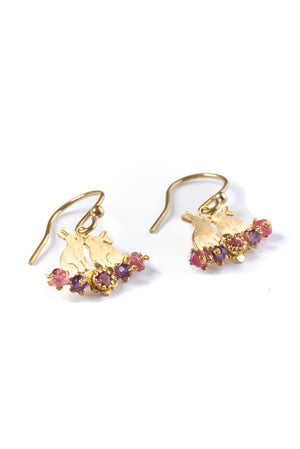 22ct Gold Vermeil - pink mix