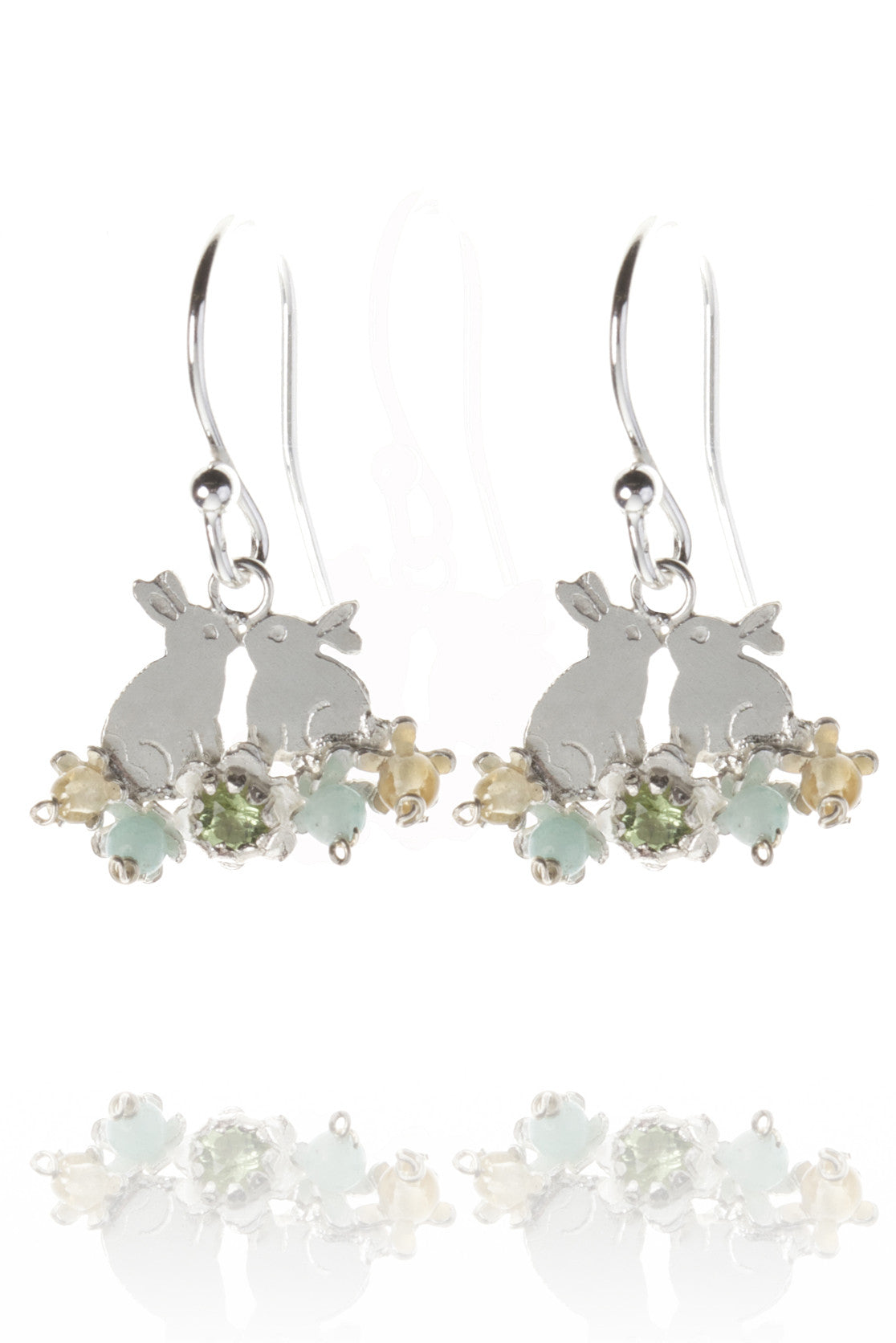 925 Sterling Silver - green mix