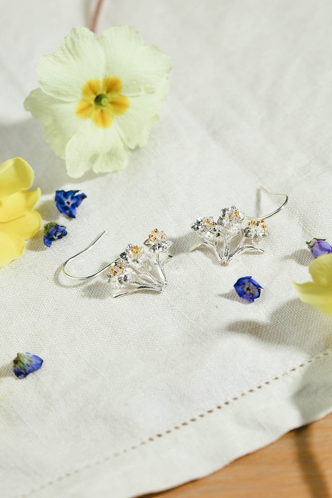 Bunch Of Daffodils Drop Earrings