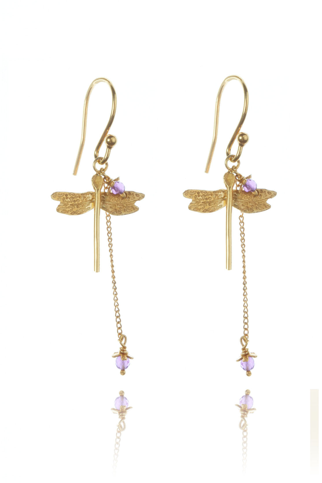 Dragonfly and Little Flower Earrings
