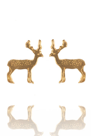 Stag Stud Earrings