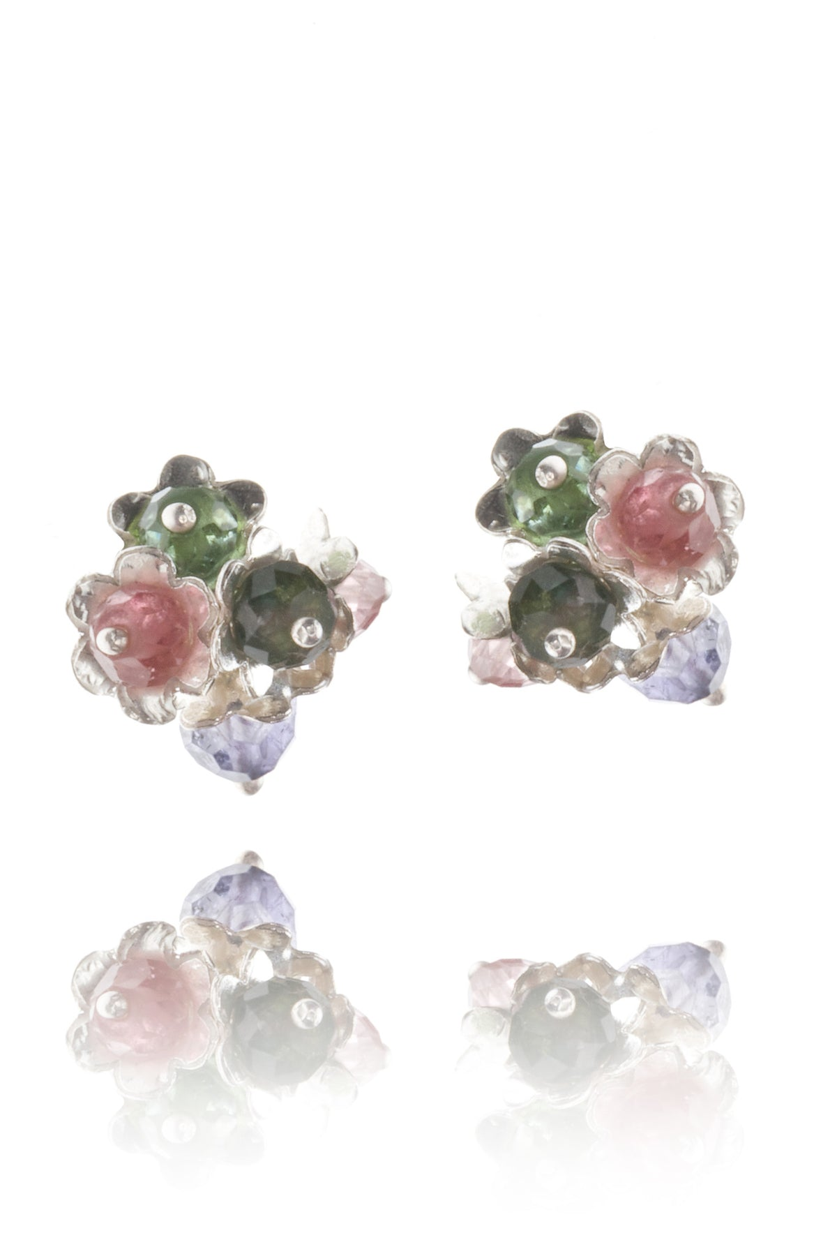 Forget Me Not Cluster Stud Earrings