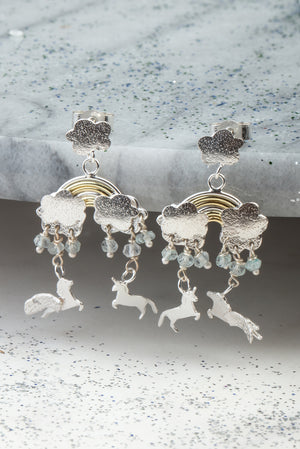 mythical far away land earrings
