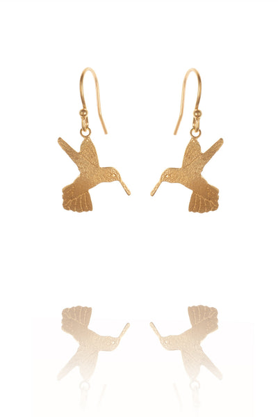 Humming Bird Hook Earrings