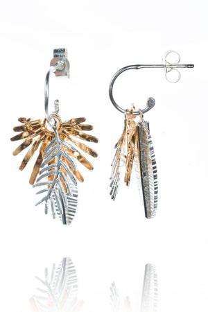 Triple Palm Leaves Earrings