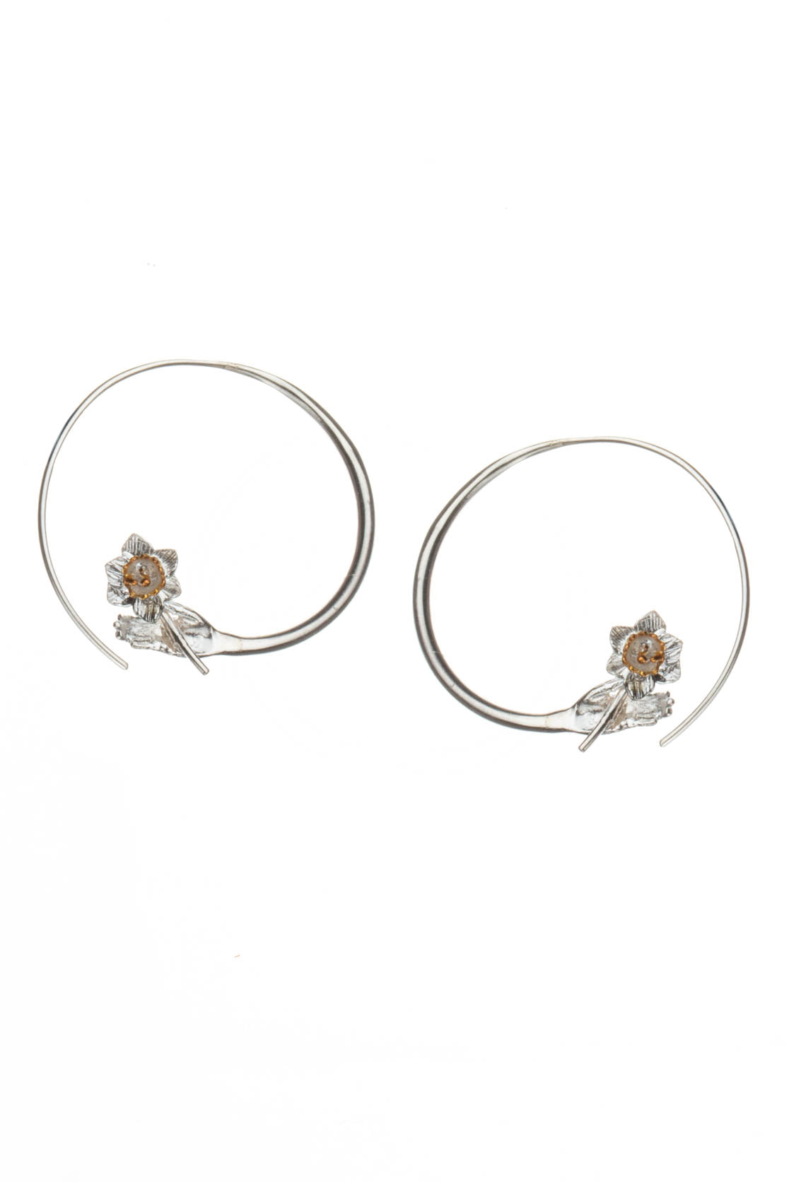 A Flower For You Hoop Earring