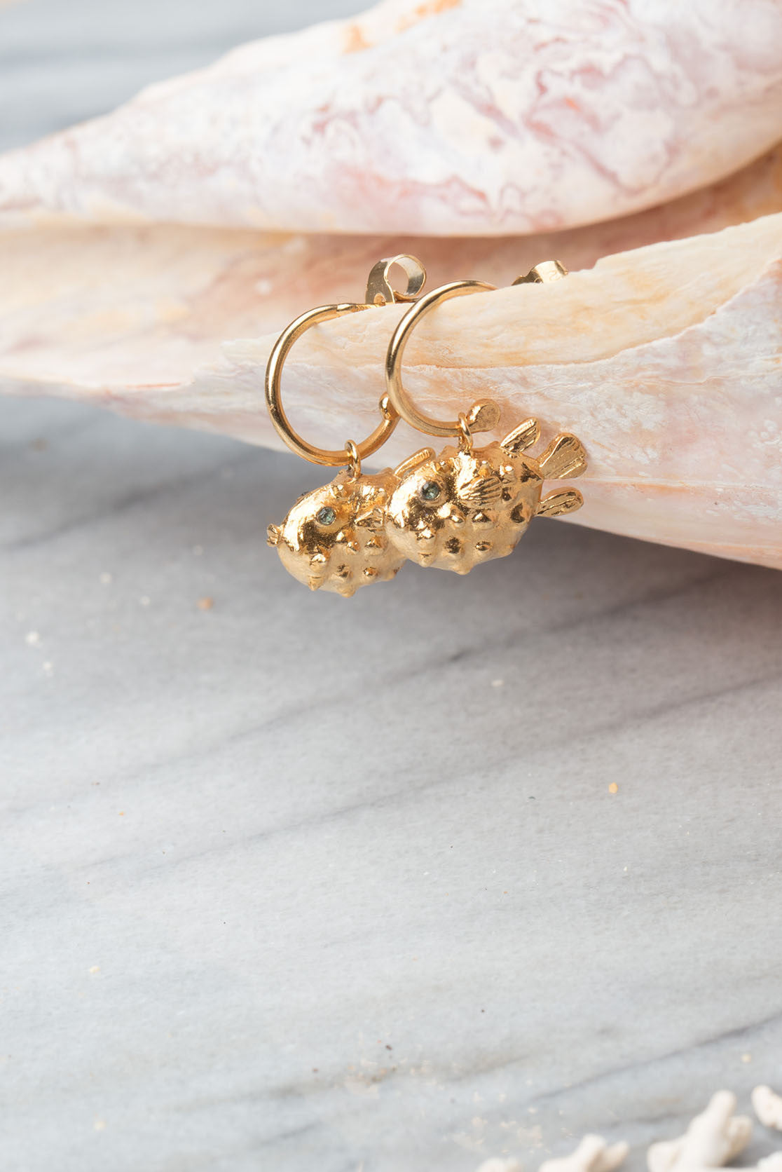 Puffer Fish Earrings