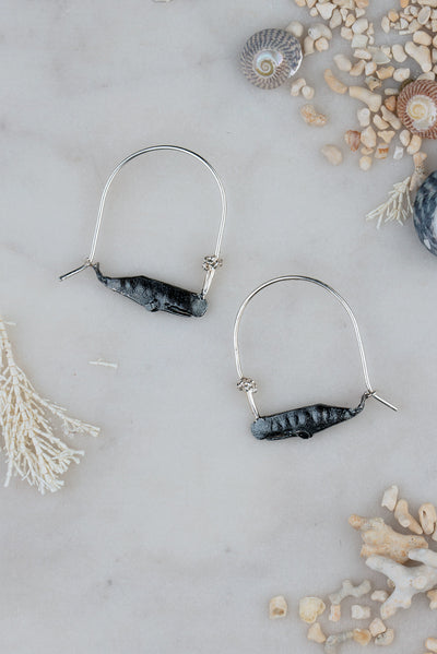 sperm whale earrings