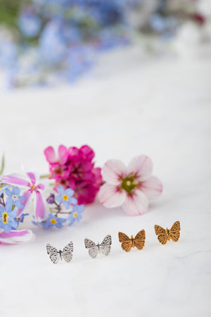 mini butterfly stud earrings