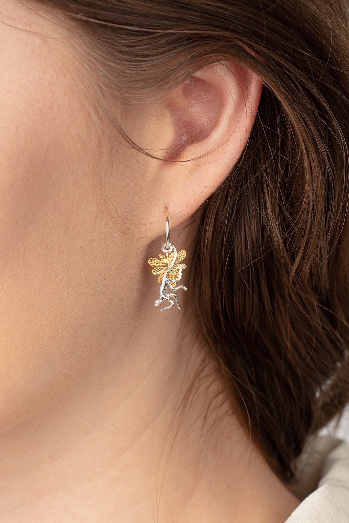 Spider monkey earrings