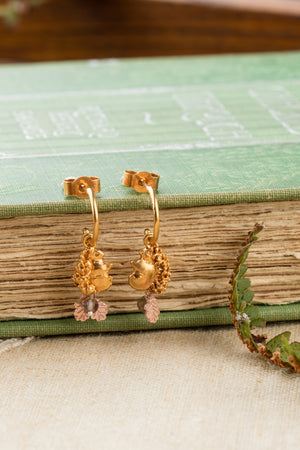 22ct gold vermeil with rose gold leaves