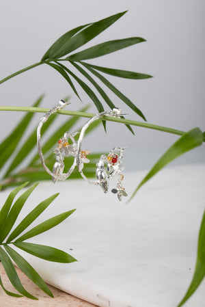 Cockatoo on Hoops Earrings