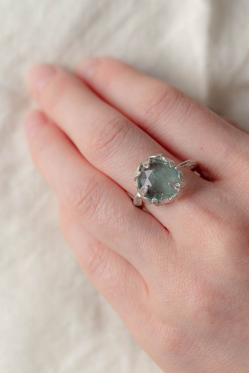 Dimminsdale Pool, One-of-a-kind Silver and Tourmaline Ring (number one)